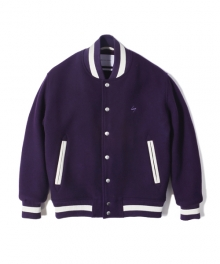 NS WOOL VARSITY JACKET purple