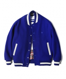 NS WOOL VARSITY JACKET royal blue