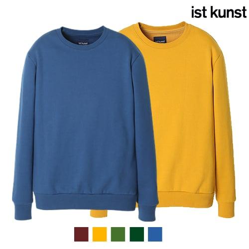 이스트쿤스트_[ist kunst] 웜히트 컬러풀 맨투맨 스웨트셔츠 5종 택1(IB1DCMOR01)