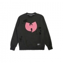 스테레오 바이널즈() [WuTang] W Distressing Sweatshirts (Black / Pink)
