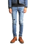 크래프티드(KRAFTED) Crosshatch Distressed Jeans