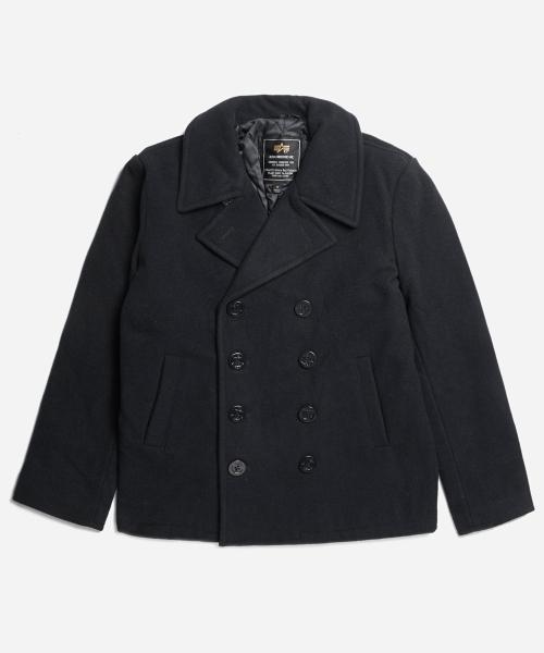 알파인더스트리_USN Pea Coat Black