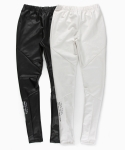 언티지() UTP-FL01 gloss incision leggings[black / white(UNISEX)]