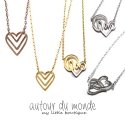 오뜨르 뒤 몽드(AUTOUR DU MONDE) HEART NECKLACE(5TYPE)