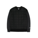레이어 유니온(LAYER UNION) SQUARE QUILTED SWEAT SHIRTS BLACK