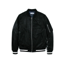 레이어 유니온(LAYER UNION) CONTRAST MA-1 JACKET BLACK