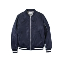 레이어 유니온(LAYER UNION) CONTRAST MA-1 JACKET NAVY