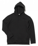 "Side Clip Raising Hoody ""Black"""