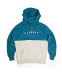 Half cotton hoody(blue-green/BEIGE)