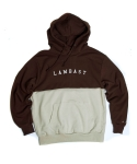 Half cotton hoody(Brown/Beige)