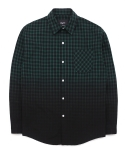 Gradation tartan check shirts