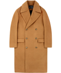 언더에어() Oversize Double Coat - Camel