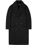 언더에어(UNDERAIR) Oversize Double Coat -Black