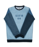 콰이트(QUITE) [콰이트] SITB Denim Crewneck T