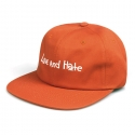 비블랙(BEBLACK) LOVE AND HATE 6 PANEL ORANGE