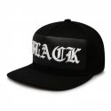비블랙(BEBLACK) OLD ENGLISH SNAPBACK BLACK