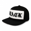 비블랙(BEBLACK) OLD ENGLISH SNAPBACK WHITE