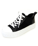 BASIC CANVAS ITARLY CALFSKIN LEATHER SHEEPSKIN SNEAKERS_S3009