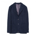 Wool glen check jacket (Navy)_BJW15131