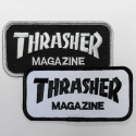 쓰레셔(THRASHER) LOGO PATCH (BLACK / WHITE)