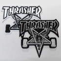 쓰레셔(THRASHER) SKATE GOAT PATCH (BLACK / WHITE)