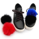 소녀시대 태연협찬 FOX FUR POMPON SHEEPSKIN SNEAKERS_S3032