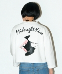 키치콕(KITCHCOCK) MIDNIGHT CROP TOP-WHITE