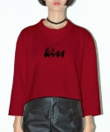 키치콕(KITCHCOCK) MIDNIGHT CROP TOP-BURGUNDY
