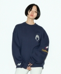 키치콕(KITCHCOCK) MATILDA SWEAT SHIRT-NAVY