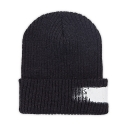 Hand Painting Beanie_Charcoal Gray