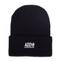 ADD合 Needlework Beanie_Black/White