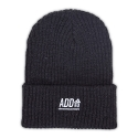 에드투씨(ADD2C) ADD合 Needlework Beanie_CharcoalGray/White