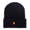 에드투씨(ADD2C) Campfire Needlework Beanie_Black