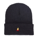Campfire Needlework Beanie_Charcoal Gray