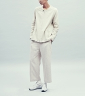 Wide wool pants [ivory]