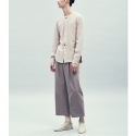 Wide wool pants [brown]