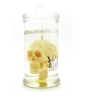 미미마끄(MIMIMAC) [EYECANDLE] Skull in jar White