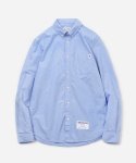 블루야드(BLUE YARD) NEON MESH OXFORD SHIRTS BLUE