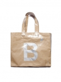 버닝(BURNING) B print transparent vinyl + paper shoulder bag (BEIGE)