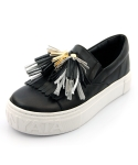 UNIQUE TASSEL SHEEPSKIN COUPLES SLIPON DAILY SNEAKERS_S3027A