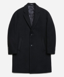 페이퍼리즘(PAPERISM) DROP SHOULDER SINGLE COAT [BLACK]