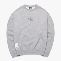 피피피(P.P.P) WELCOME TO WONDERLAND SWEAT SHIRTS (GREY)