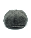 CLOMOR HARRIS TWEED NEWS BOY CAP HERRINGBONE