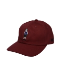 콰이트(QUITE) [콰이트] Q Bear Baseball Cap (Burgundy)