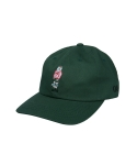 콰이트(QUITE) [콰이트] Q Bear Baseball Cap (Dark Green)