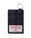 티레벨(T-LEVEL) Harris Tweed Card Holder Blue