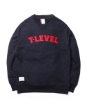 티레벨(T-LEVEL) Arch Logo Cotton Sweat Navy/Red