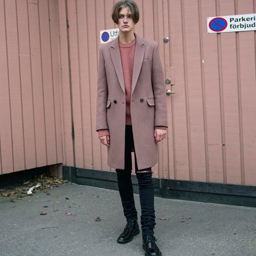 앤더슨벨_Markus Double Coat Deep Pink awa036(Deep Pink)