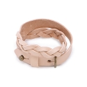 모우(MOW) Double knot leather bracelet beige