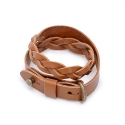 모우(MOW) Double knot leather bracelet brown